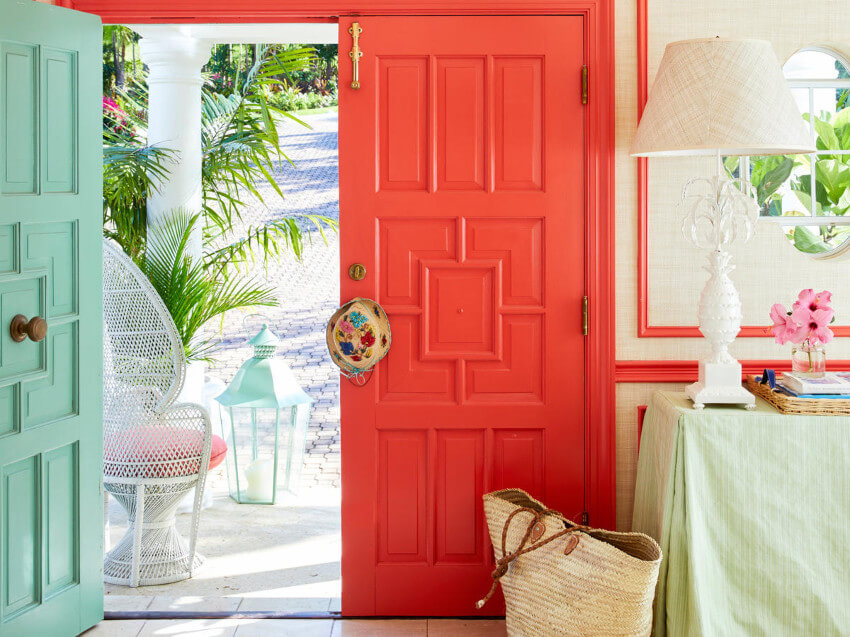 Bright and vibrant colors are a must with coastal style.