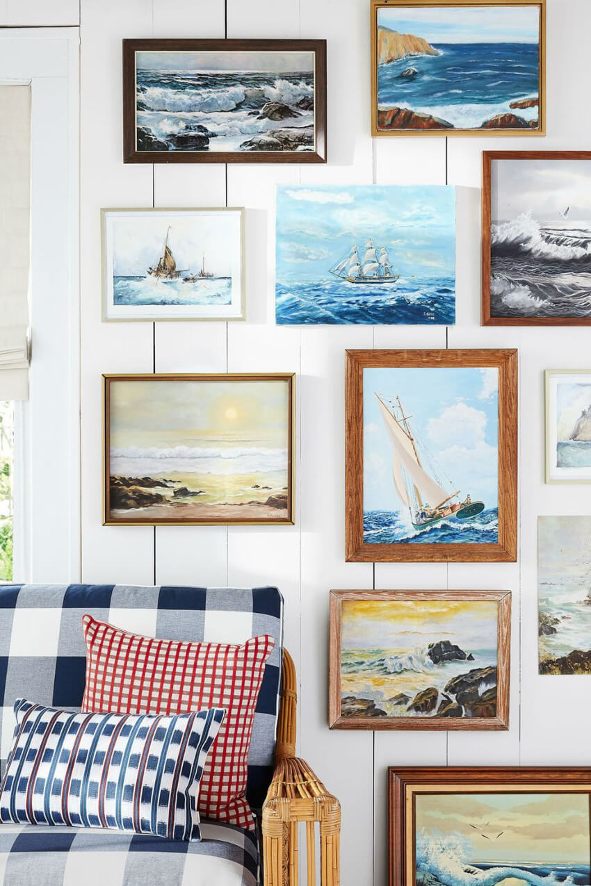 A seascape gallery wall will make your home gorgeous.