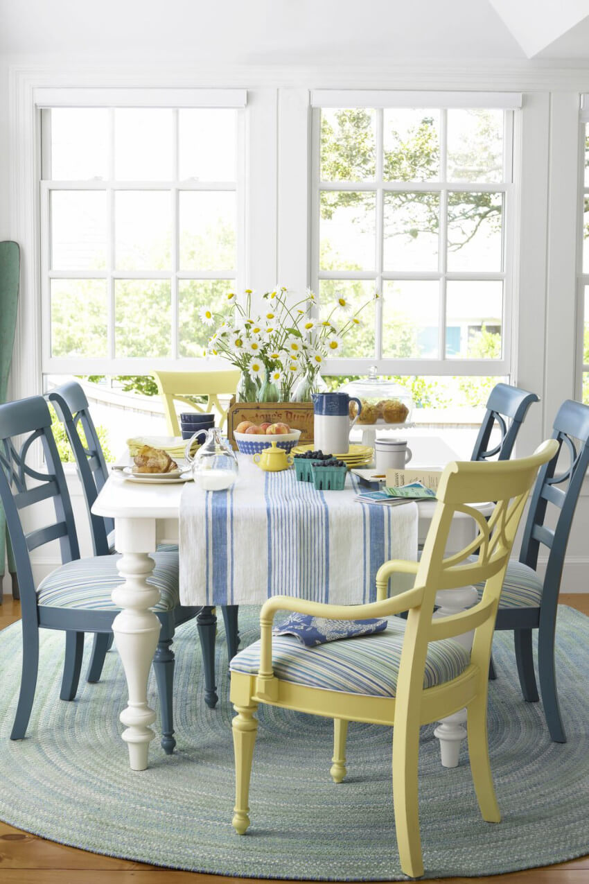 A breakfast nook is perfect to get the day started.