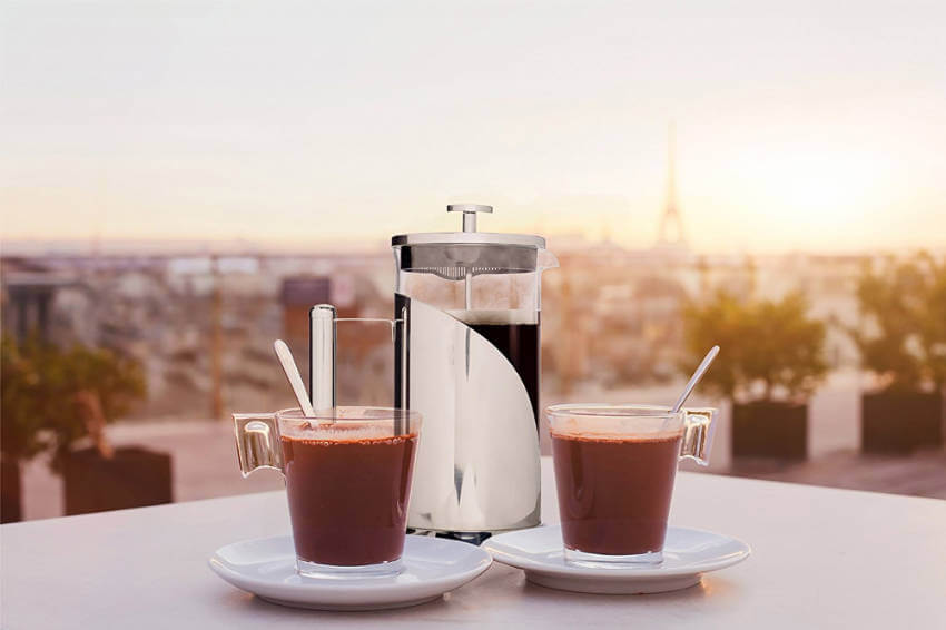 This french press will make you feel incredibly chic every morning, like you're in an old hollywood movie