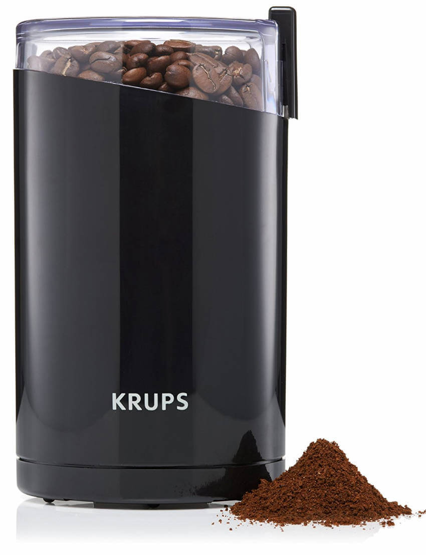 An electric bean grinder if you want to step up your daily coffee routine