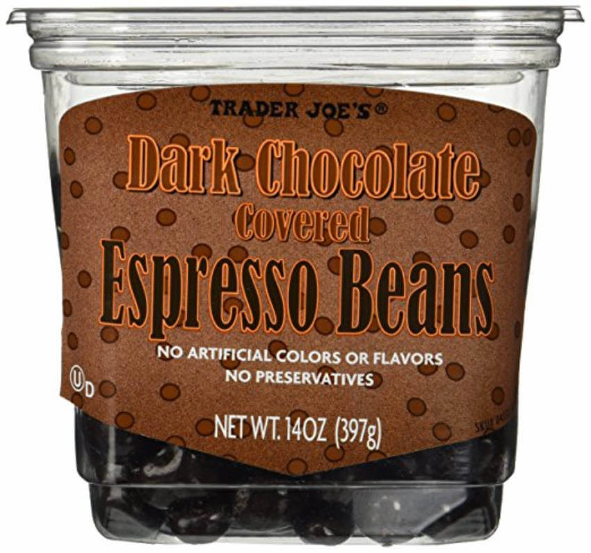 Dark chocolate covered espresso beans to satisfy your sweet-tooth with a delicious treat.
