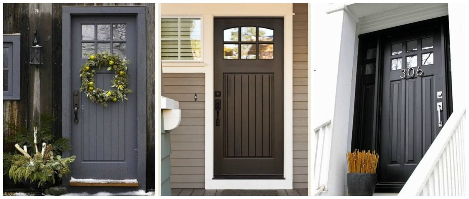 Well crafted colors schemes for exterior front doors