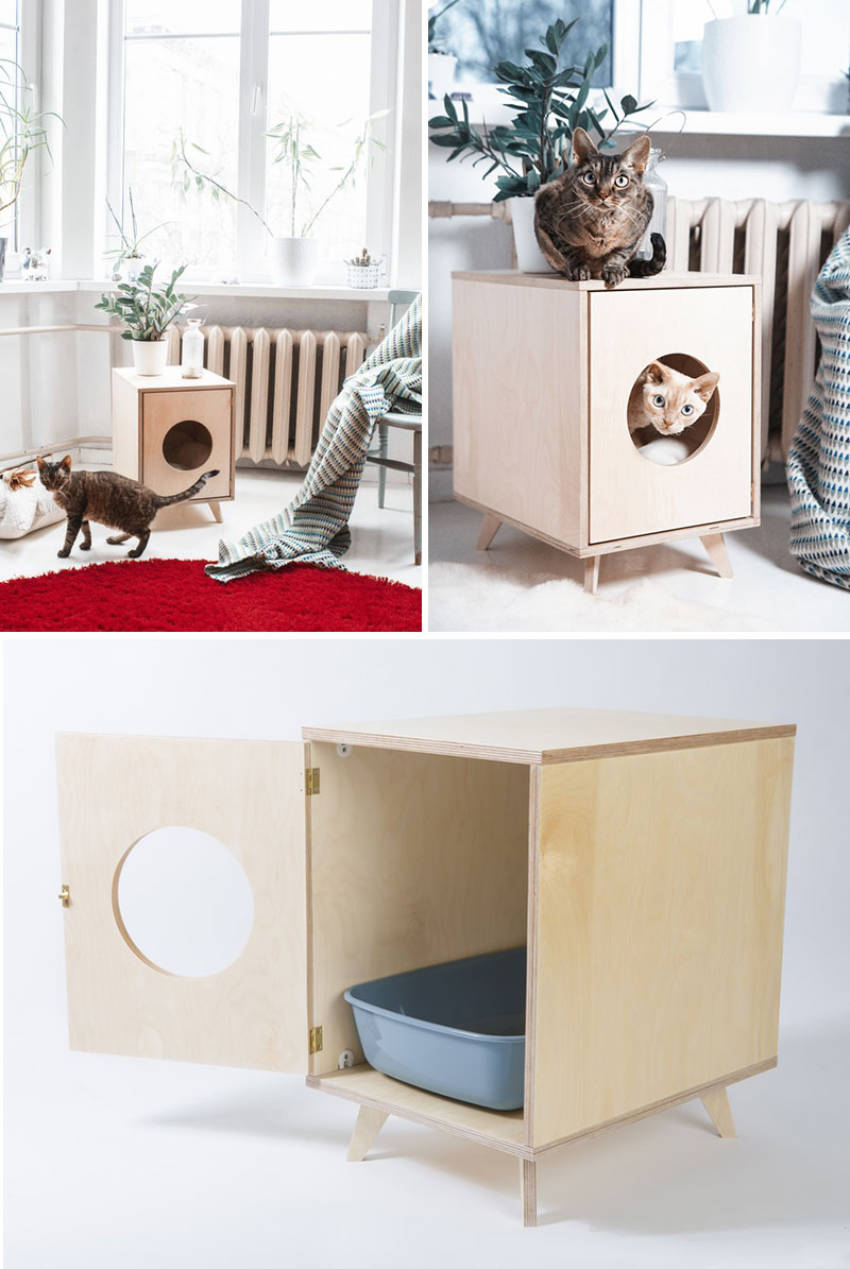 There are smaller alternatives to hiding litter boxes.
