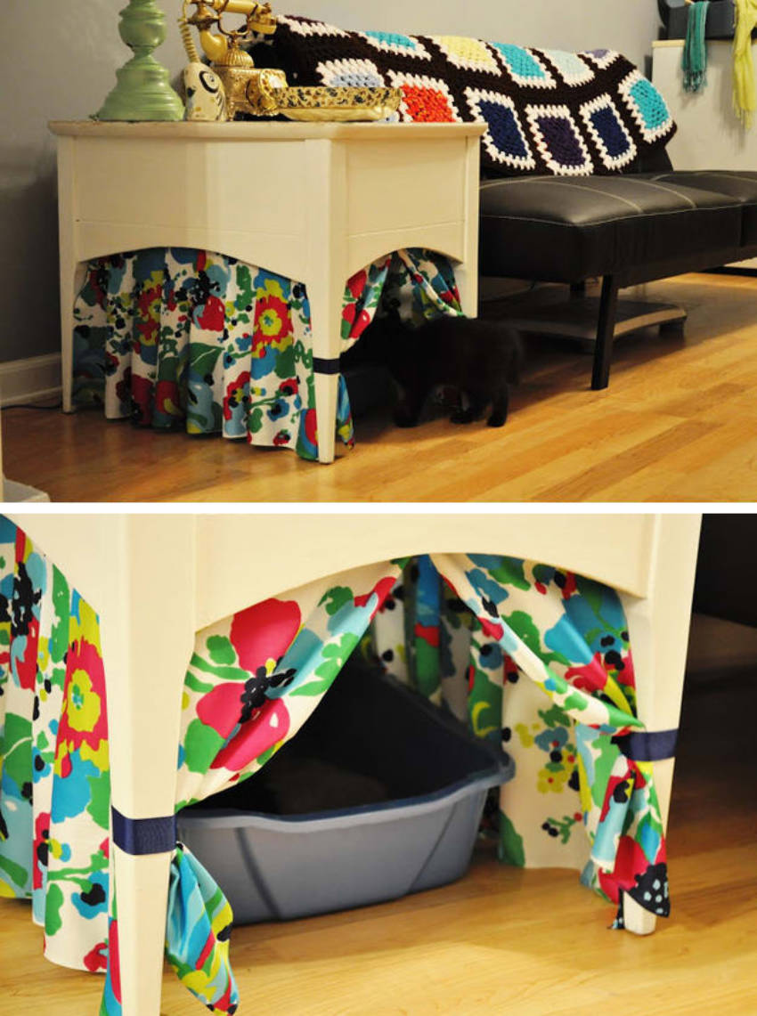 A great cat litter hack for small apartments!