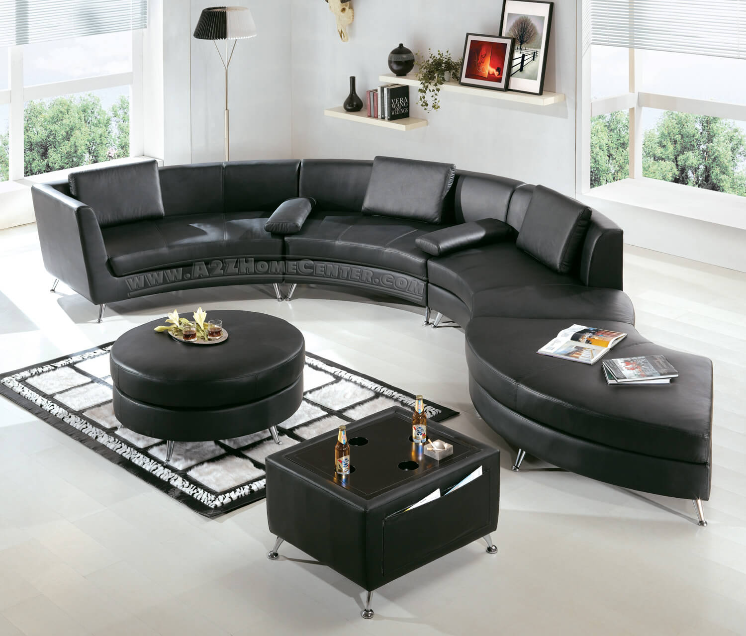 Jet black furniture that truly makes a statement