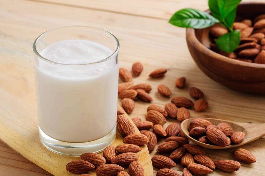 Almond milk is healthy and delicious, give it a try!