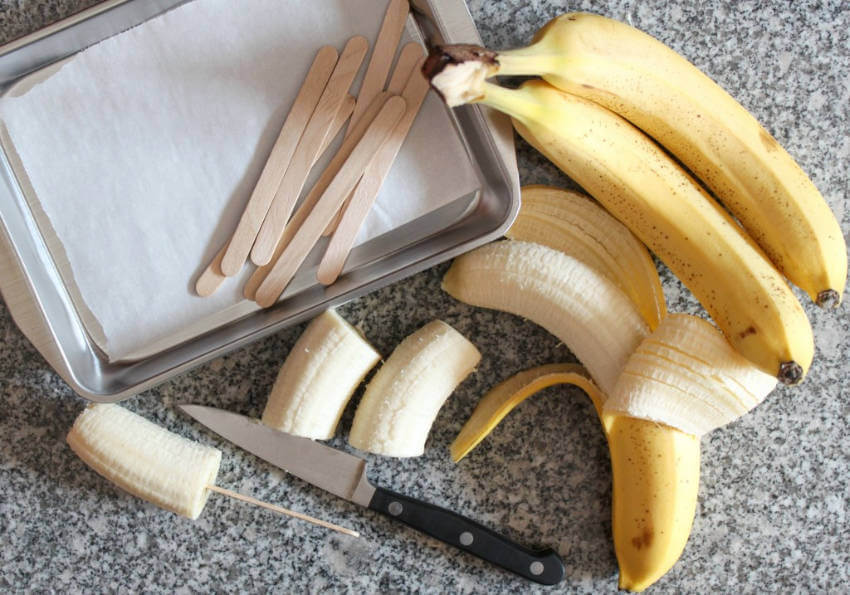Freeze and then mash bananas for a perfect ice cream base!
