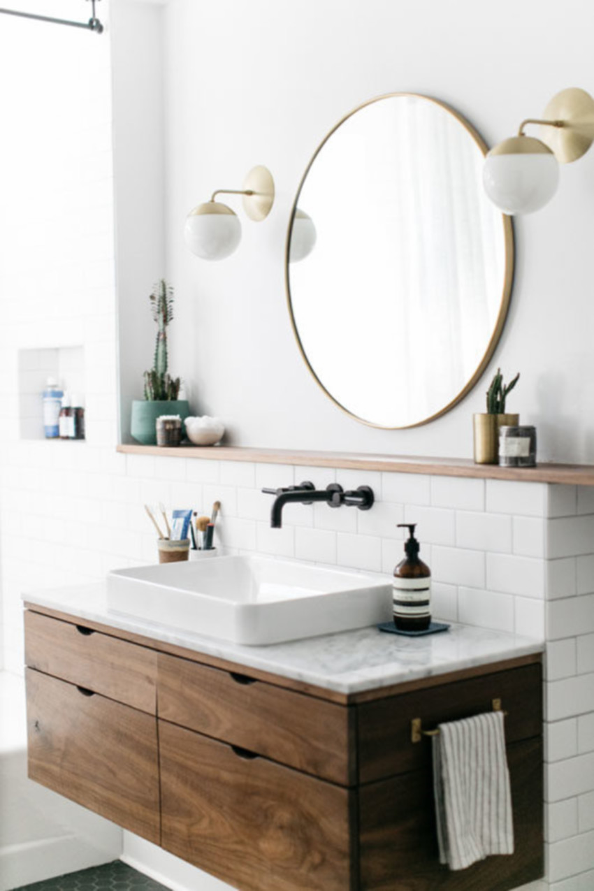 A no-touch faucet will be a lot more efficient in your modern bathroom.