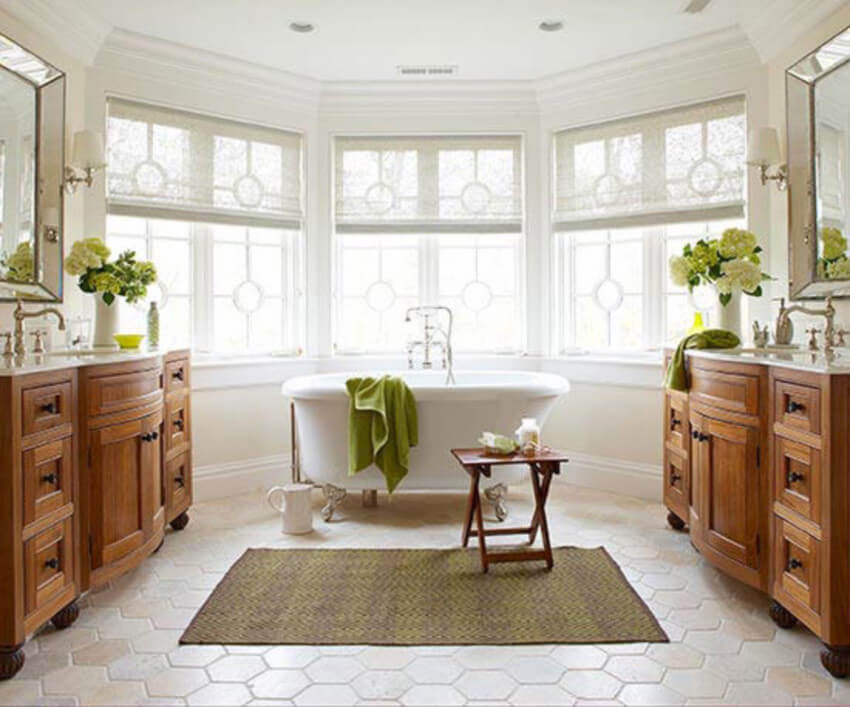 Heating floors will take your bath to a whole new level.