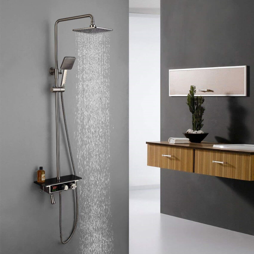 Thermostatic showers can make for a gorgeous decor.