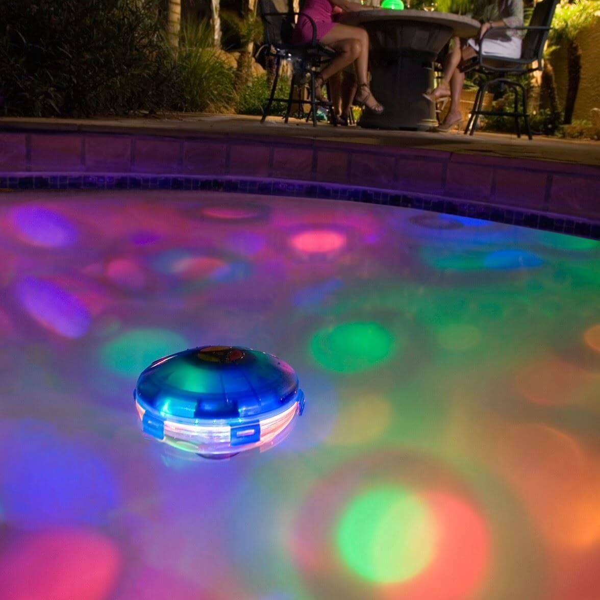 Have a disco light party in your pool