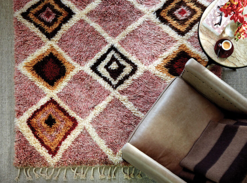 A patterned rug with fall colors will be a beautiful decor addition.