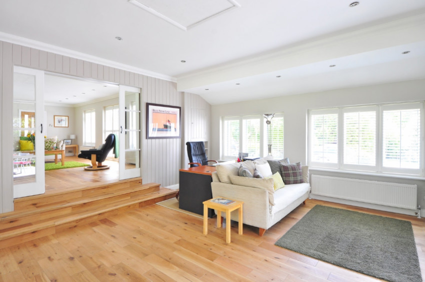 Wood floors add warmth and style to any room.