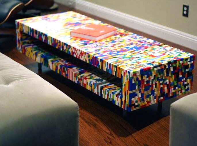 An entire piece of furniture made from LEGO!