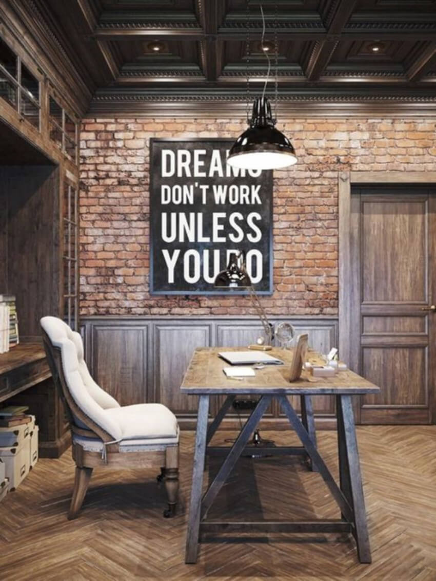 That wall art is perfect for a home office.