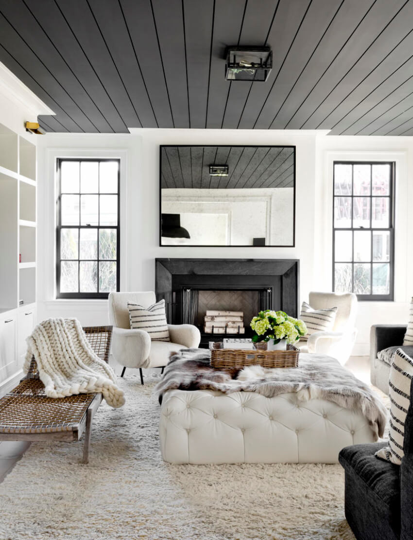 A painted ceiling will make your home look more modern.