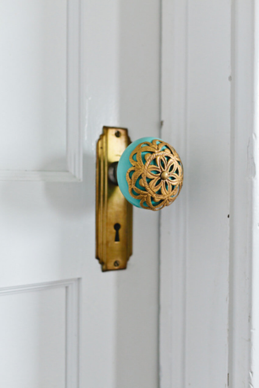 Create a decor accent with a new door knob.