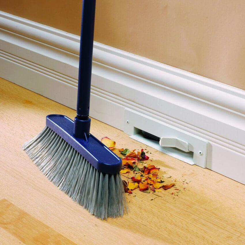 Make cleaning easier with a baseboard vacuum,