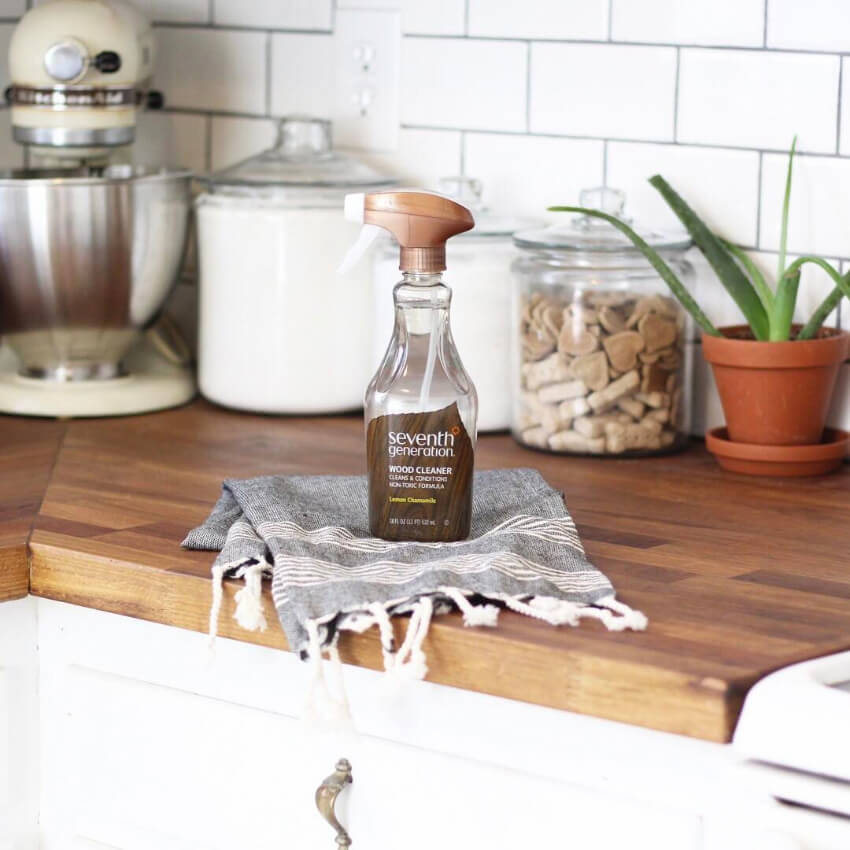 This wood cleaner will leave all your wooden furniture shiny