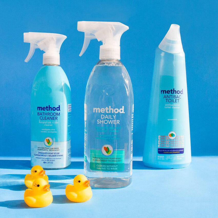 A bathroom cleaner, shower cleaner, and toilet cleaner to leave your bathroom smelling wonderful.