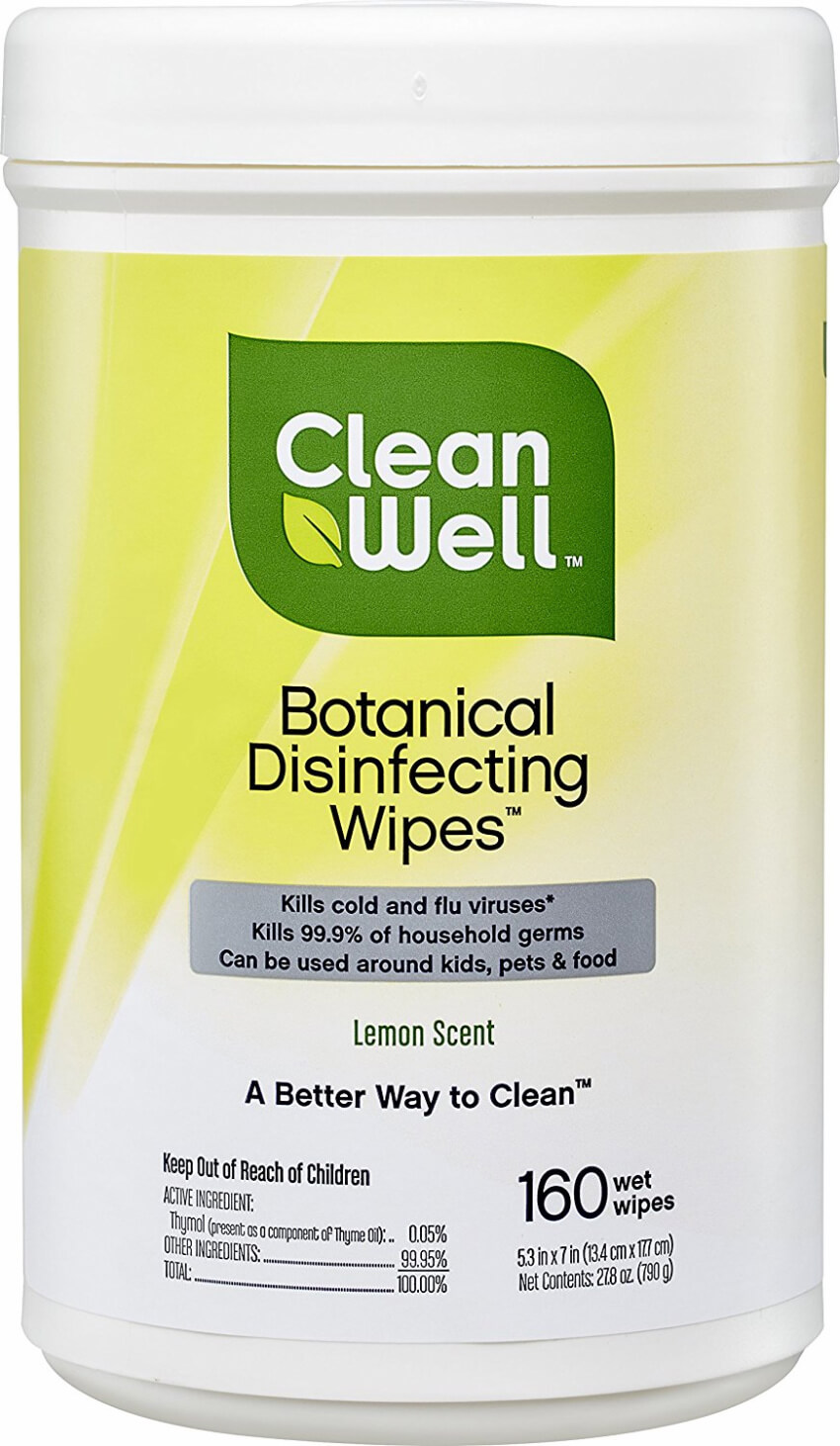 These disinfecting wipes can save you time and get everything clean without having to pull out all your cleaning supplies.