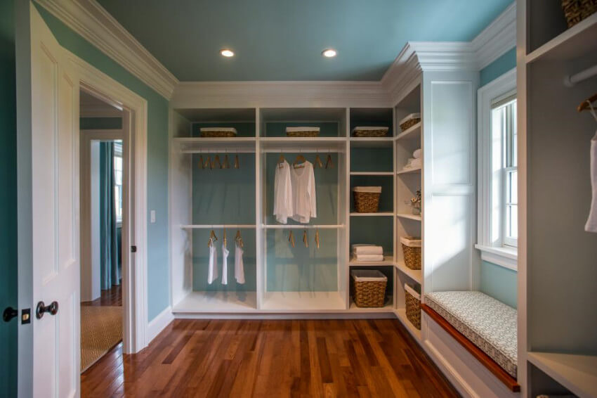 Not only your closet will have natural light, but the fresh air also helps prevent mold infestations.