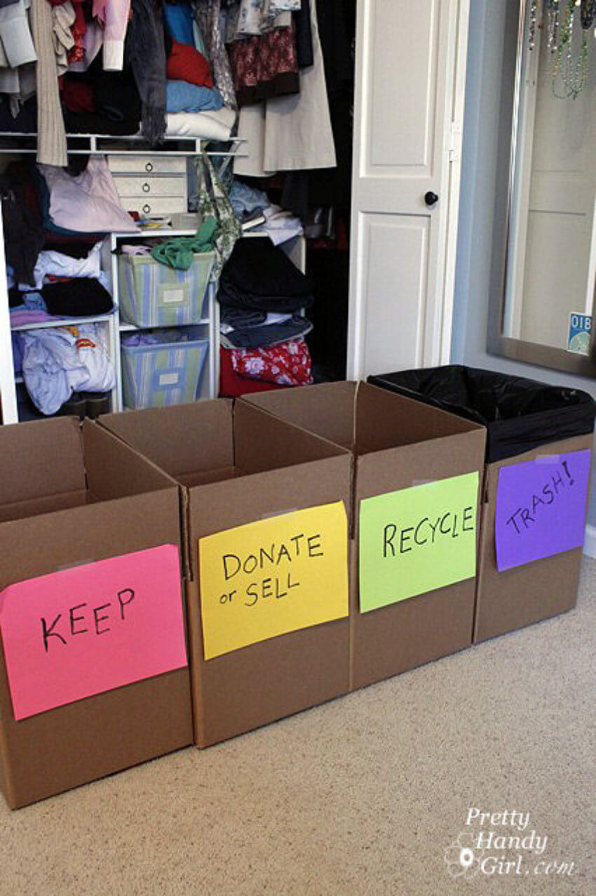 Take a weekend to do this decluttering method!