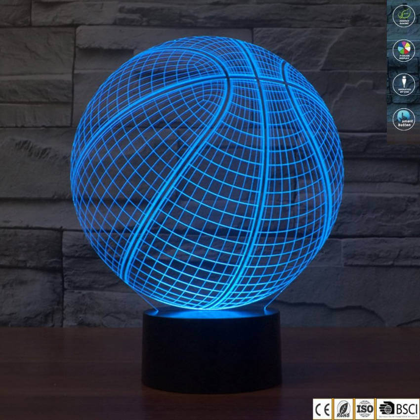 Basketball hologram lamp.