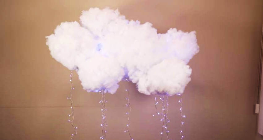 Cloud lamp.