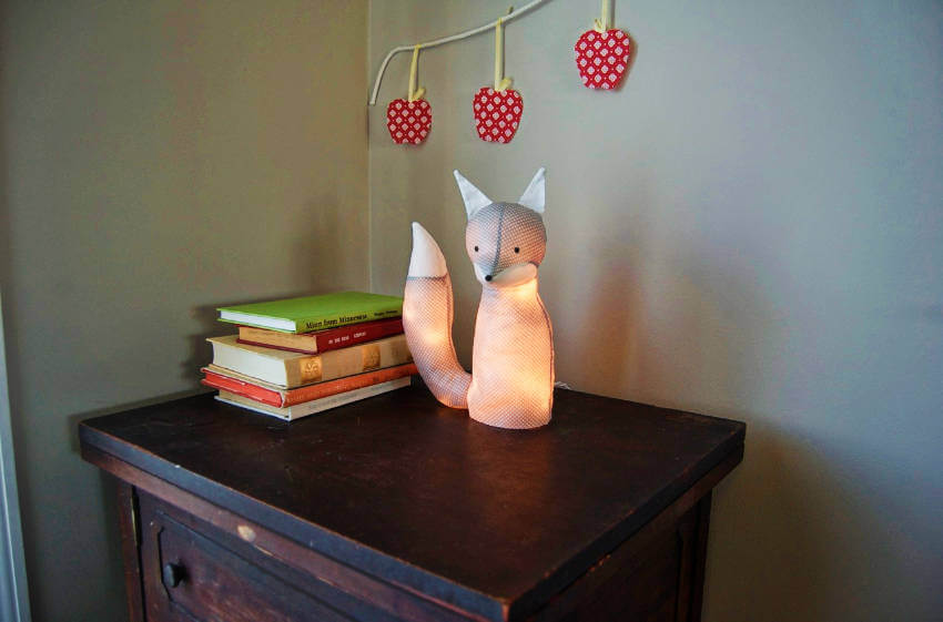DIY fox lamp.