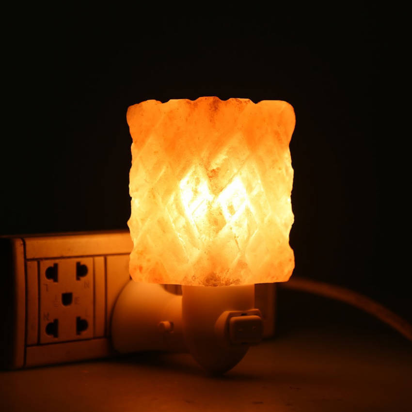Himalayan salt lamp.