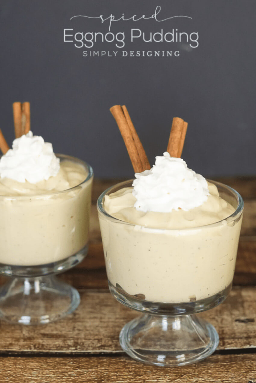 This spiced eggnog pudding is a guaranteed hit!