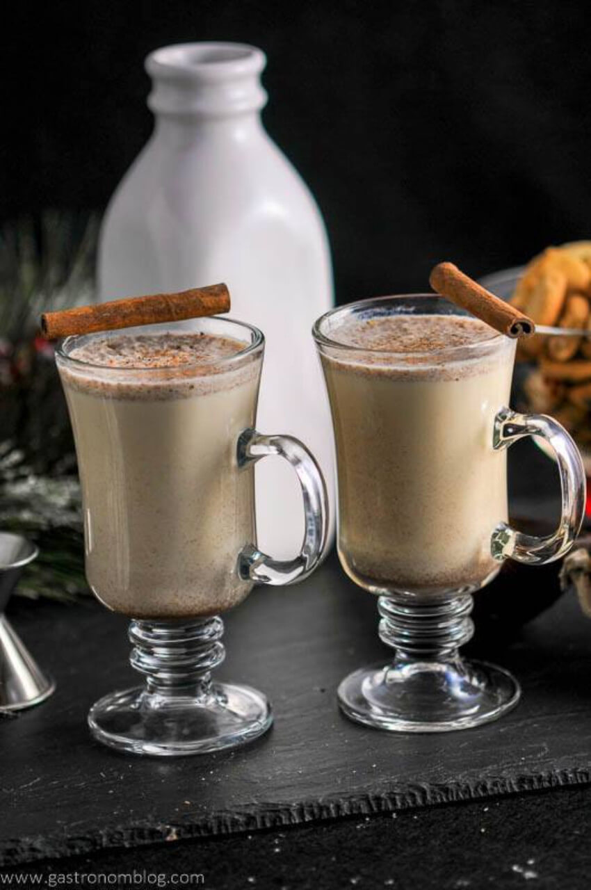This boozy eggnog recipe will be a hit!