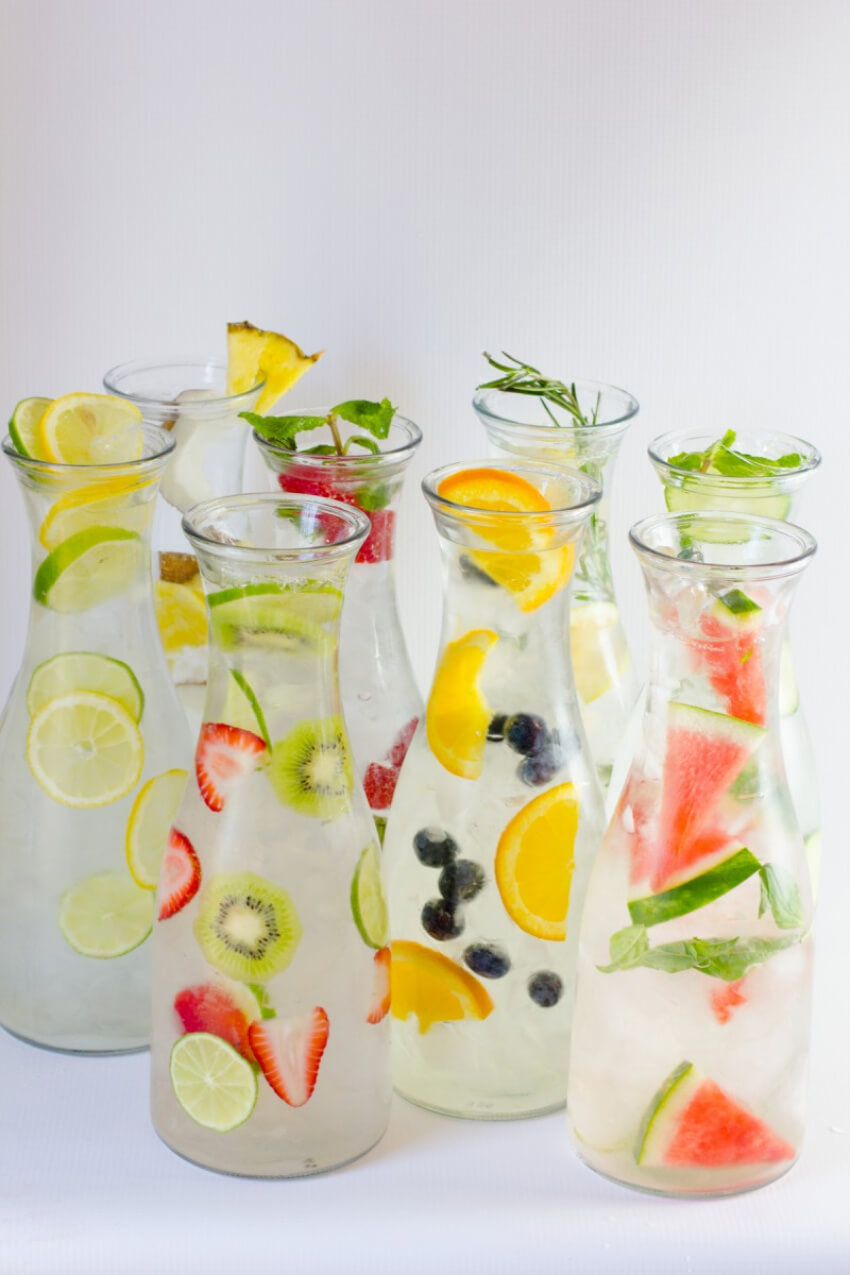 Infused water will be your new best friend!
