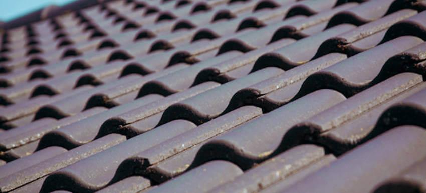 Concrete tiles roof.