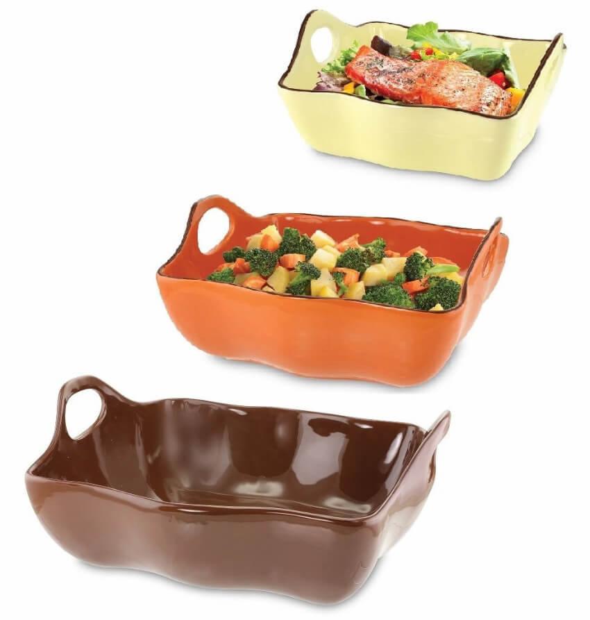 A three set casserole dishes can make your life easier!