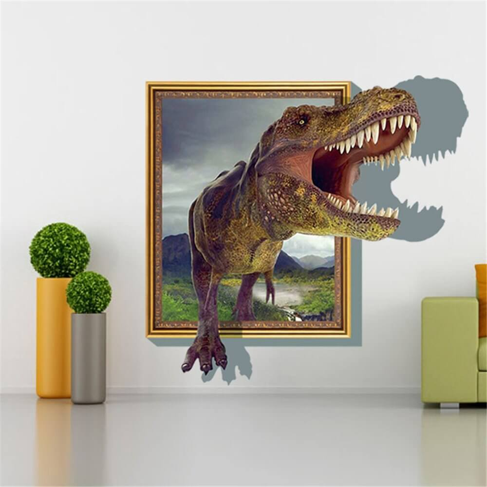 Turn your blank wall into Jurassic art