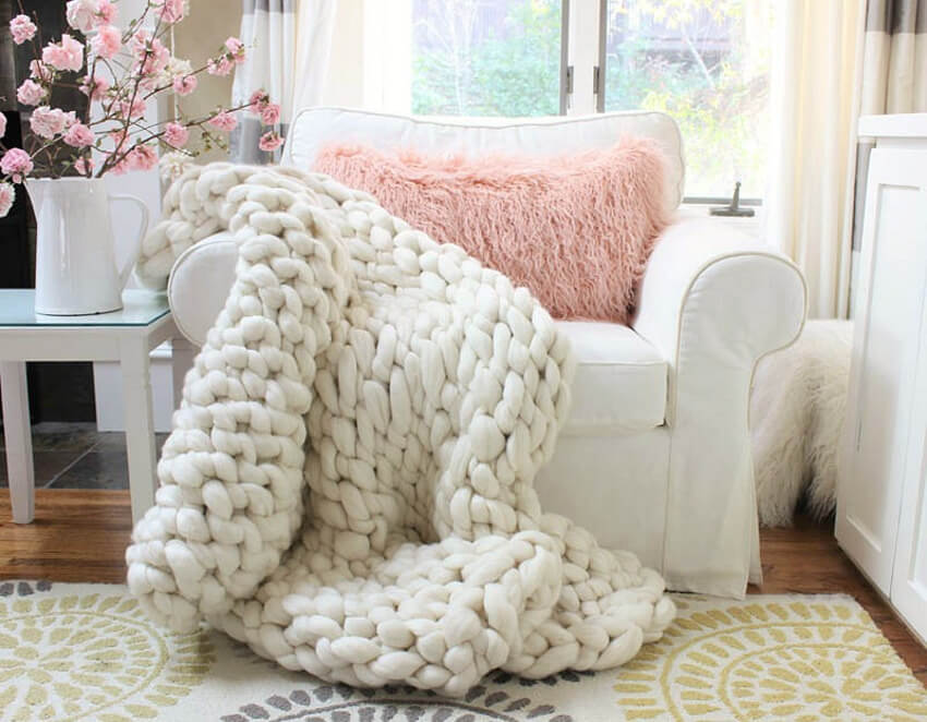 This color block pattern is amazing for blankets.