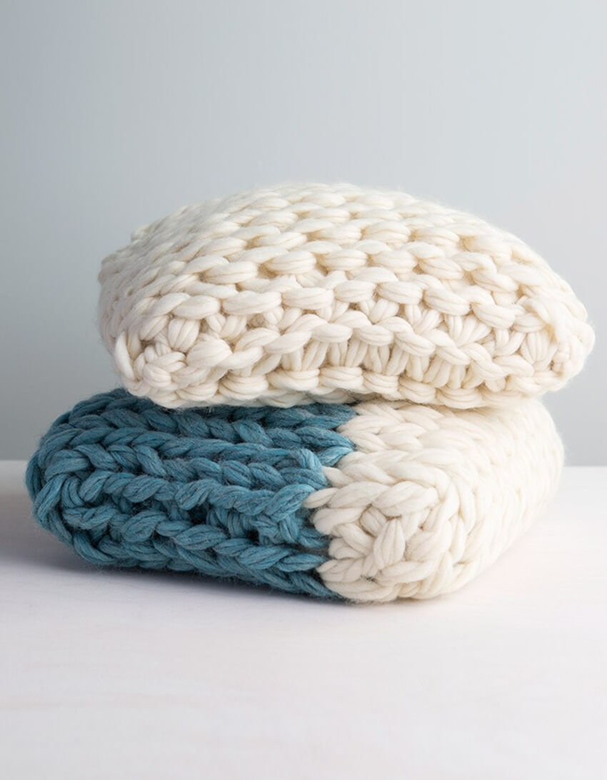 This arm knit pillow will be a great addition to your bedroom decor.