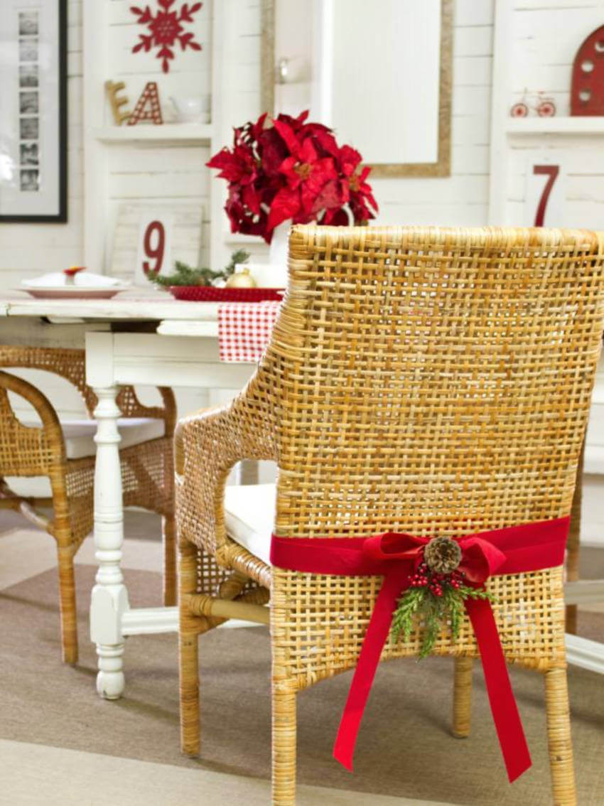 Add something on your chairs to catch the eye's attention.