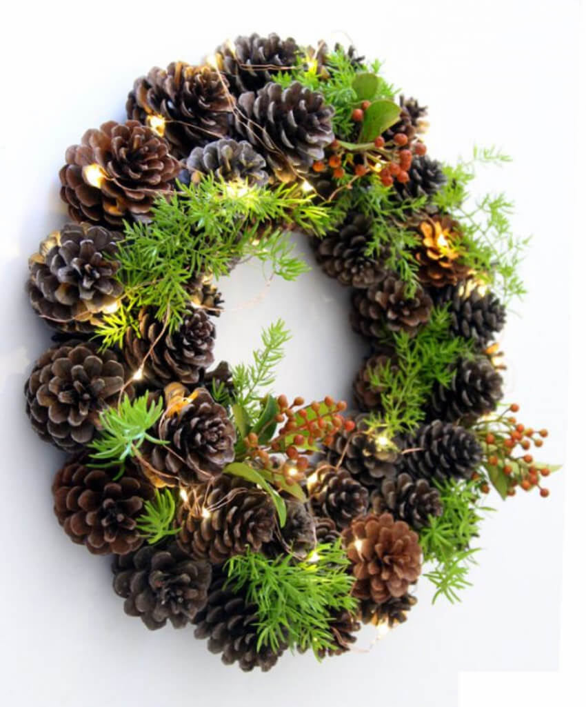 Pinecones can make that connection between the change of seasons!