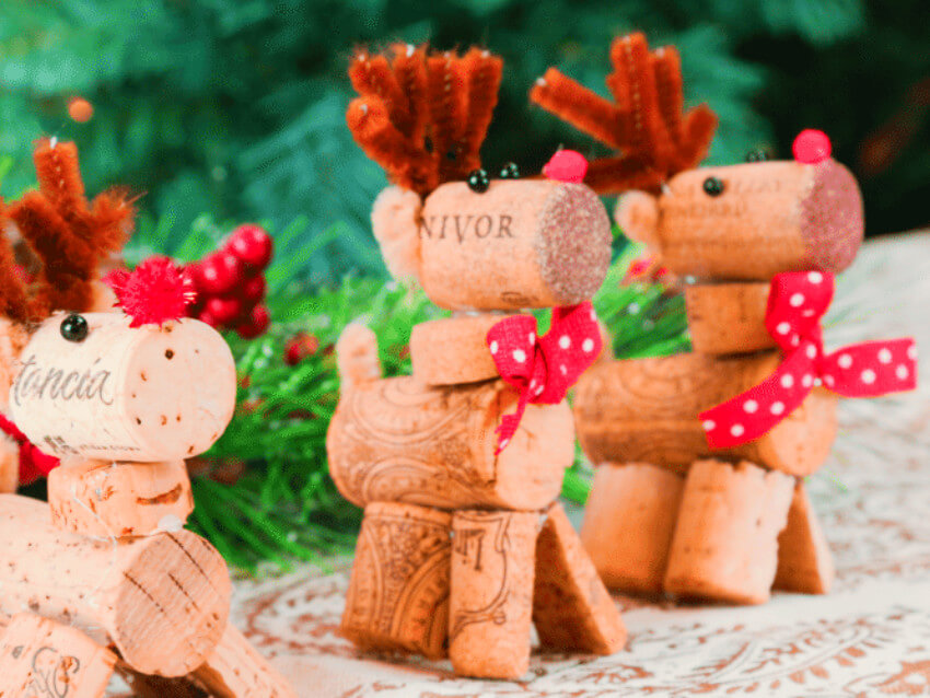 These reindeers are cute and easy to make!
