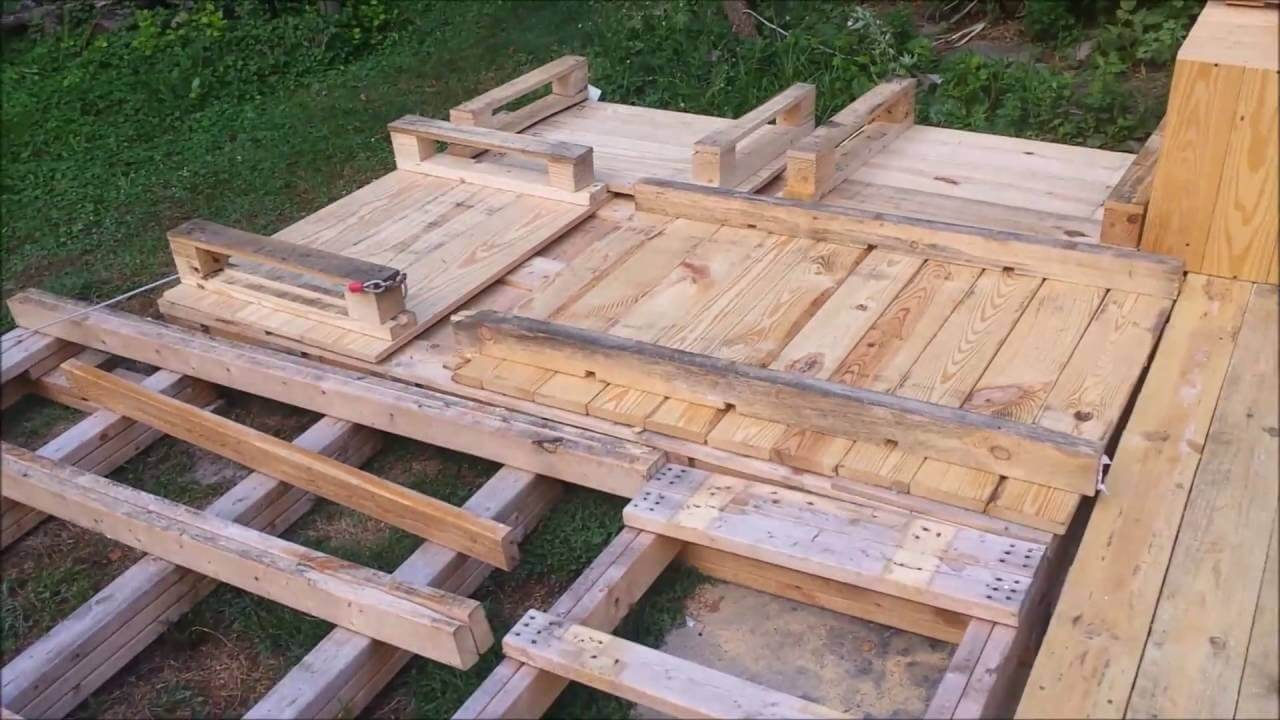 DIY pallet decking