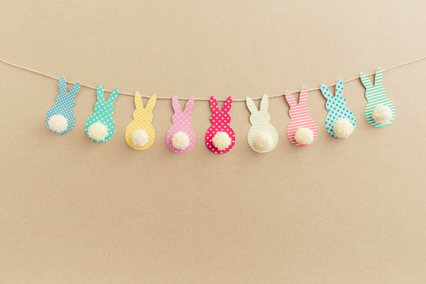 Bunny garland will make your home super cute!