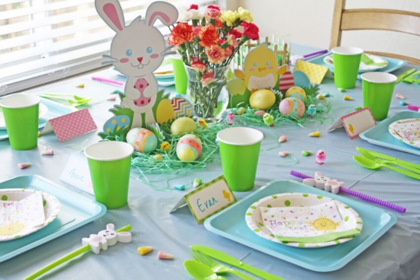Kids like cute Easter decorations too!