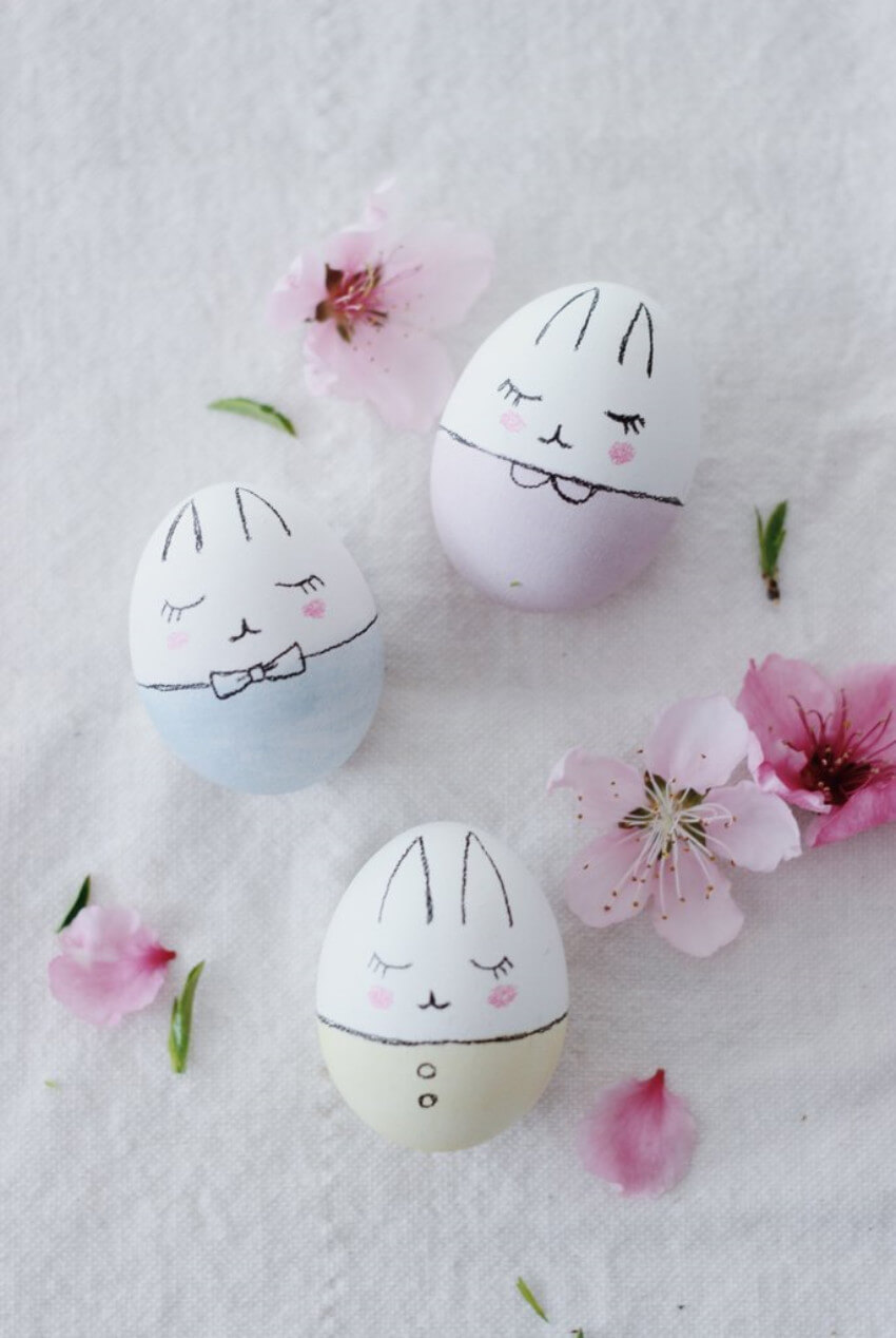 Bunny eggs, how cute are these?