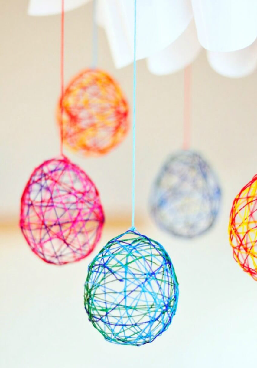 String art is incredible, so give it a little twist and make these magical eggs!