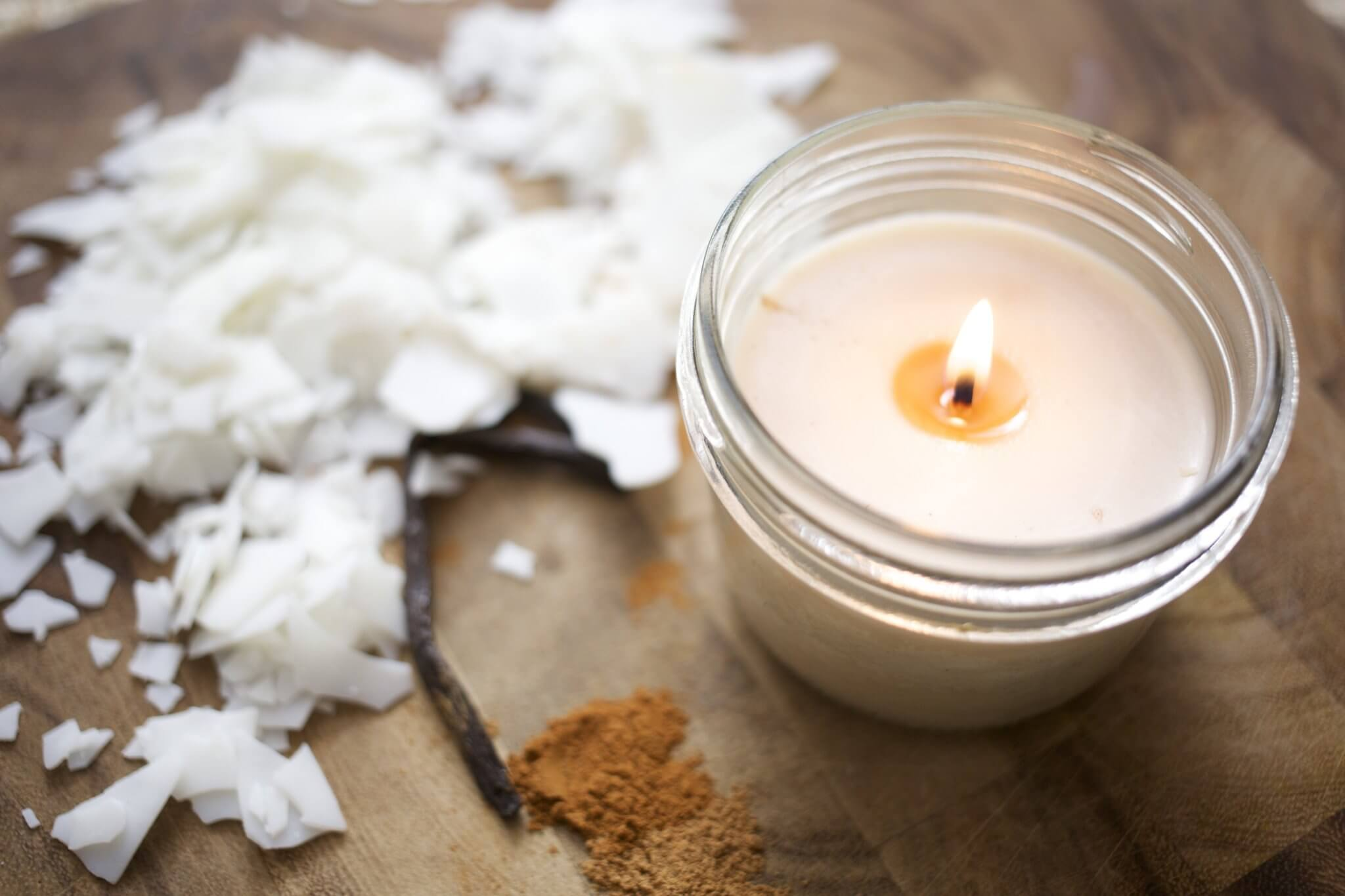 You can make your own scented candles in your home!