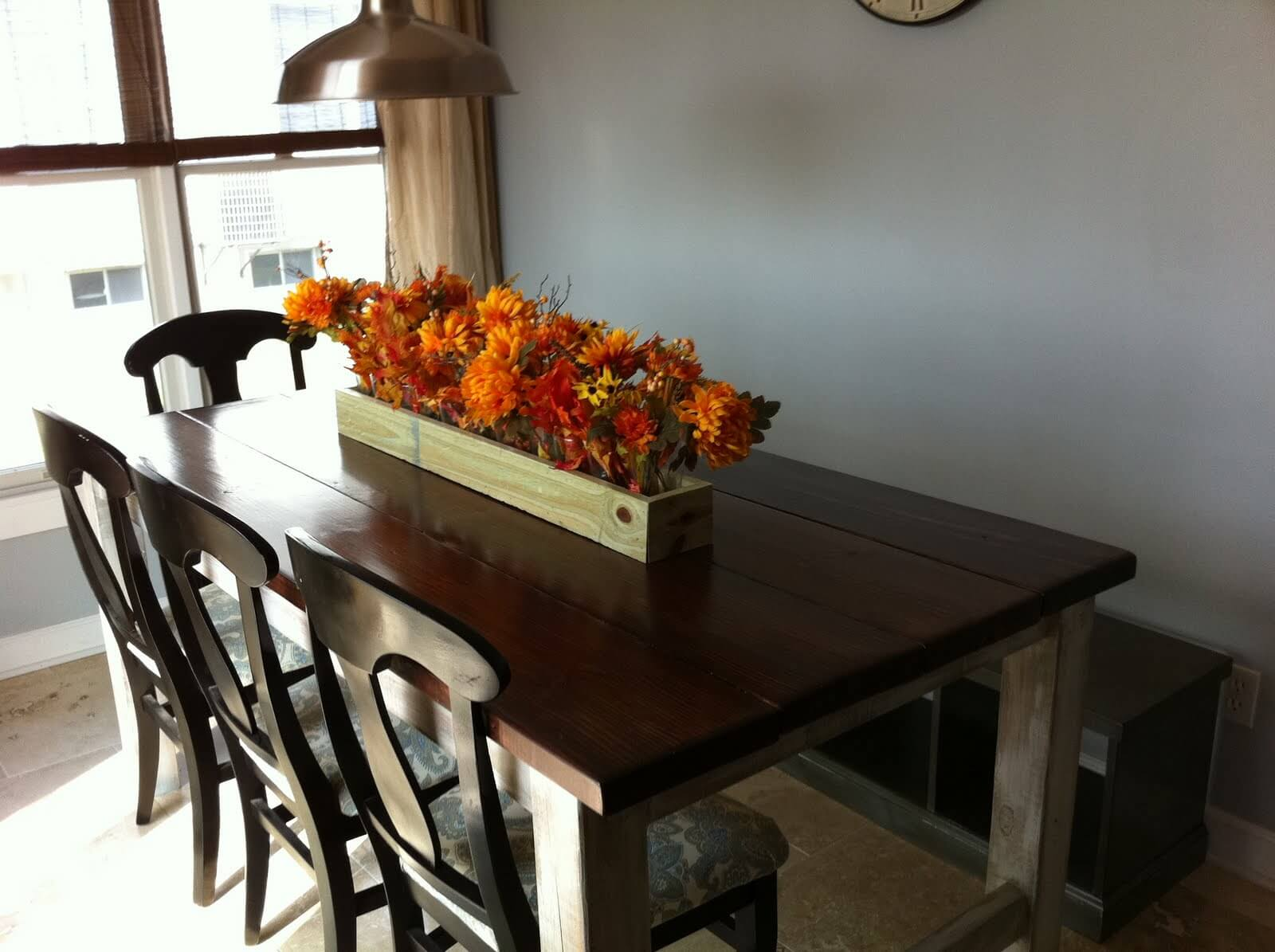 The farmhouse table is an amazing addition
